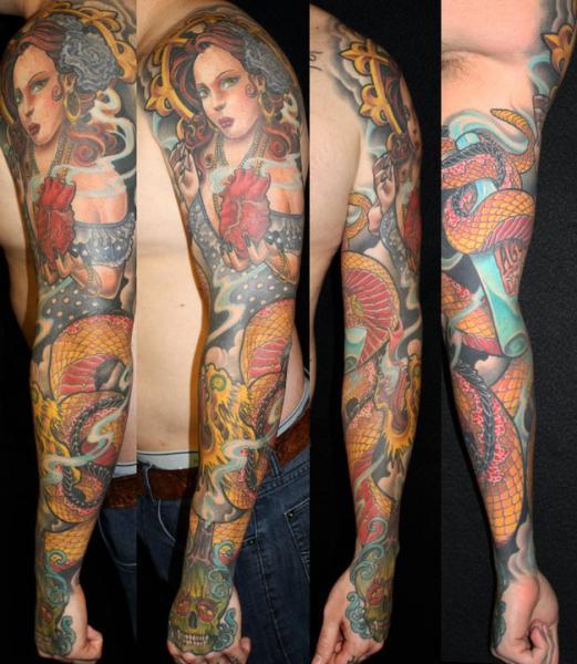 Tatuaje Brazo Japoneses por Guru Tattoo