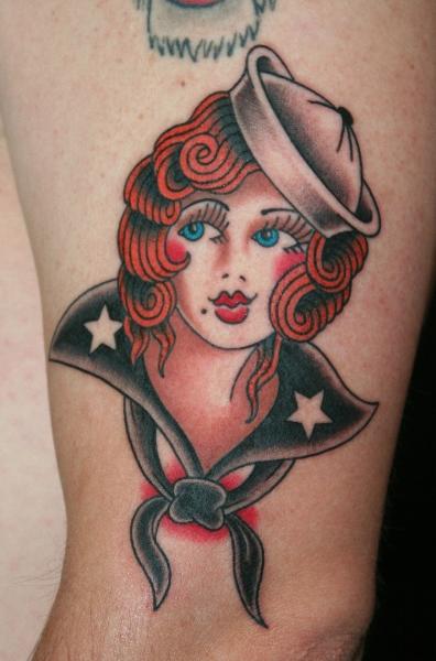 Old School Mariner Tattoo by Hb Tattoo