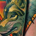 tatuaje Brazo Perro por FreiHand Tattoo