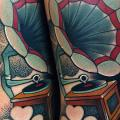 Arm Grammophon tattoo von FreiHand Tattoo