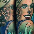 Arm New School Mariner Woman tattoo by FreiHand Tattoo