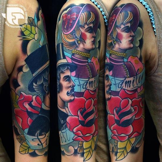 New School Tattoo by FreiHand Tattoo