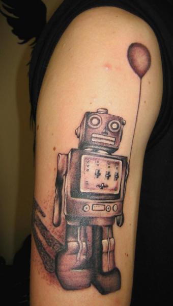 Arm Fantasie Roboter Tattoo von Helyar Tattoos