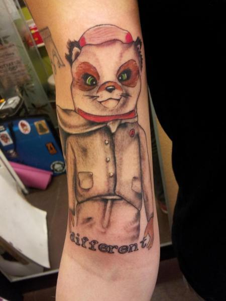 Arm Fantasy Cat Tattoo by Hidden Hand Tattoo