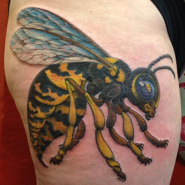 Realistic Bee Tattoo by Hidden Hand Tattoo