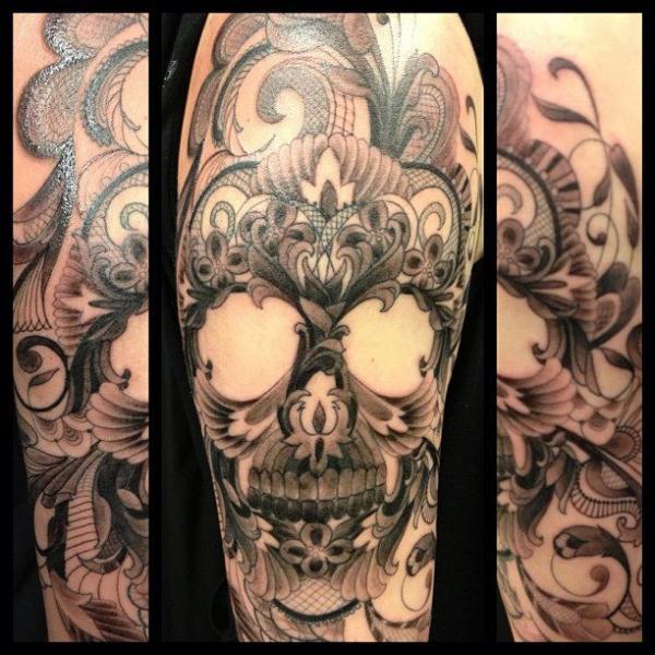 Skull Tattoo by Hidden Hand Tattoo