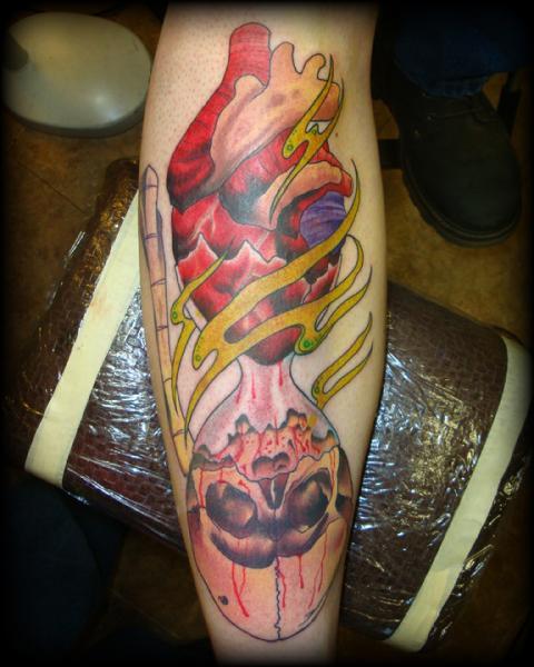 Arm Heart Skull Tattoo by High Street Tattoo