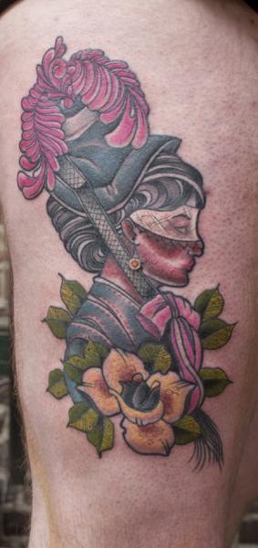 New School Women Tattoo by High Street Tattoo