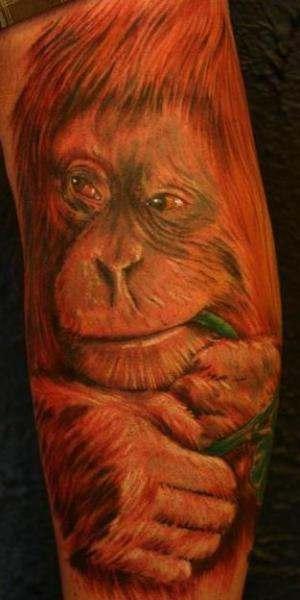 Realistic Monkey Tattoo by Immortal Canvas