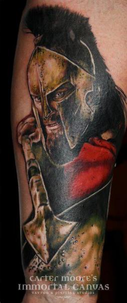 Realistic Warrior Tattoo by Immortal Canvas