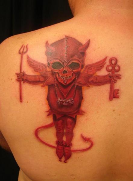 Shoulder Fantasy Devil Tattoo by Immortal Image Tattoos