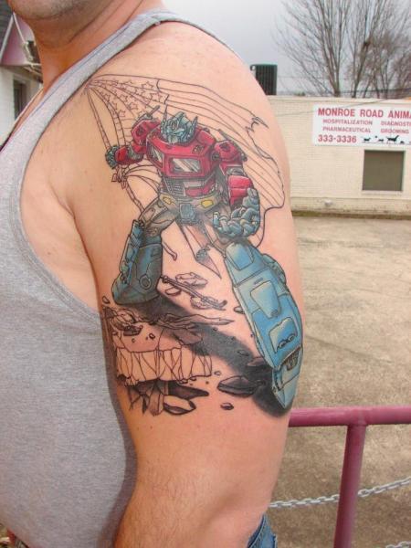 Shoulder Fantasy Transformers Tattoo by Immortal Image Tattoos