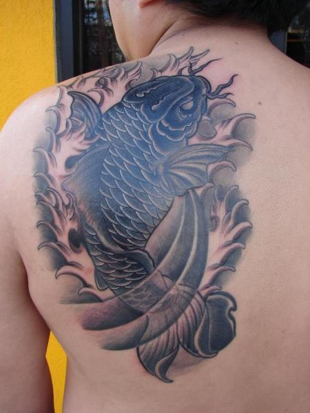 Shoulder Japanese Carp Tattoo by Immortal Image Tattoos
