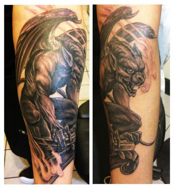 Arm Fantasy Demon Tattoo by Inborn Tattoo