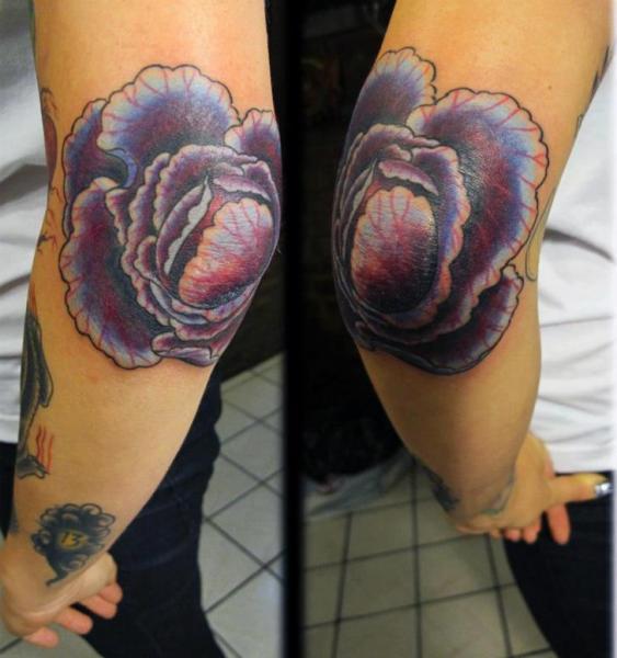 Arm Flower Tattoo by Inborn Tattoo