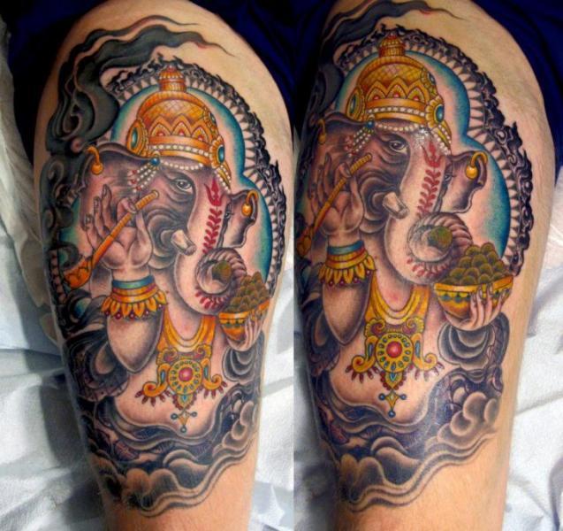 Bein Religiös Ganesh Tattoo von Inborn Tattoo