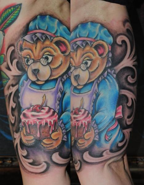 Fantasy Bear Tattoo by Industry Tattoo