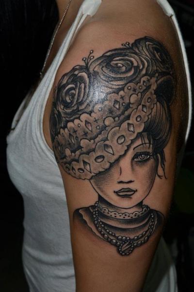 Shoulder Women Tattoo by Industry Tattoo