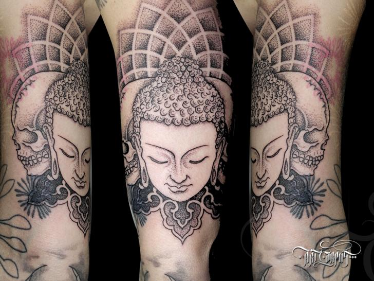 Arm Buddha Tattoo von Art Corpus