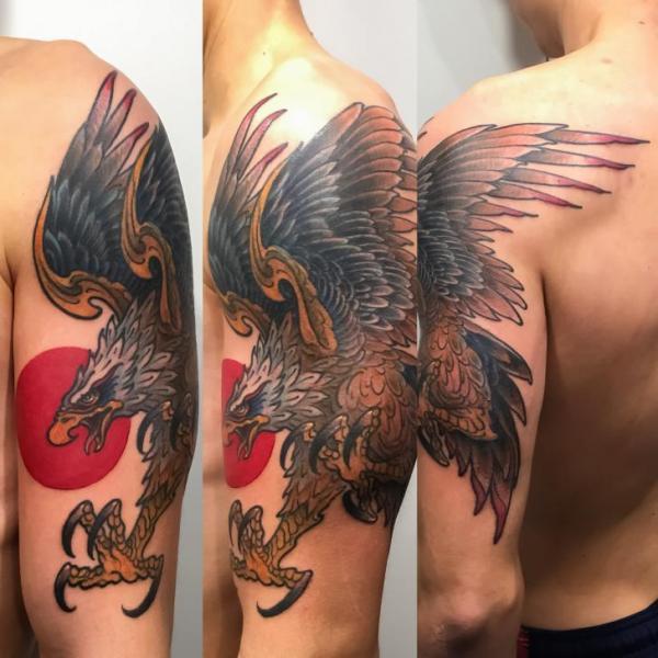 Arm Adler Tattoo von Art Corpus