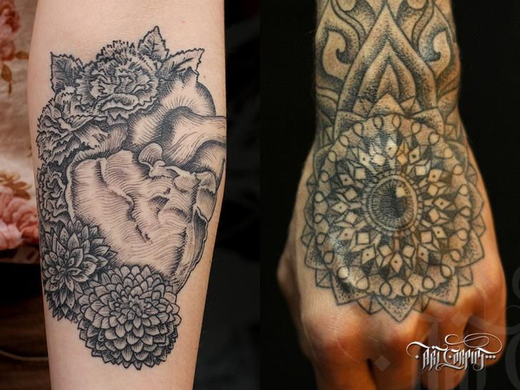 Arm Heart Hand Tattoo by Art Corpus