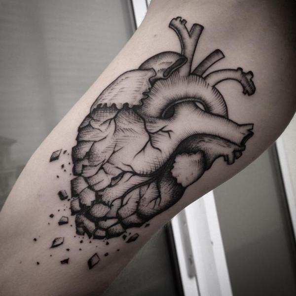 Arm Heart Tattoo by Art Corpus