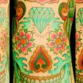 Mexican Skull tattoo by Art Corpus
