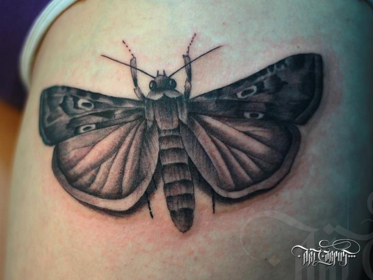 Realistic Moth Tattoo by Art Corpus