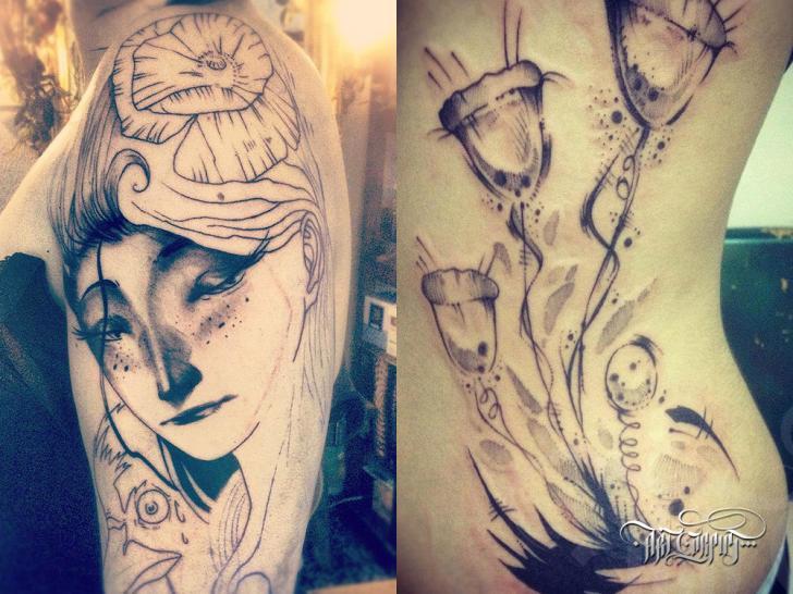 Shoulder Women Tattoo by Art Corpus