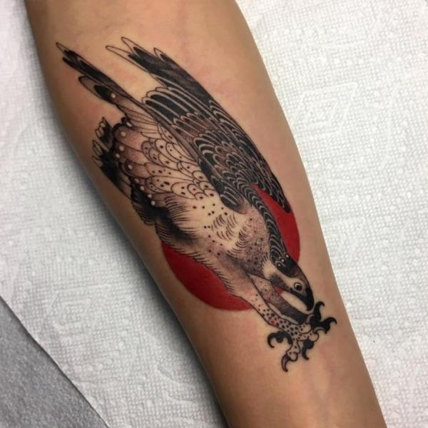 Arm Eagle Tattoo by Invisible Nyc