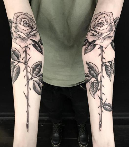 Arm Flower Tattoo by Invisible Nyc