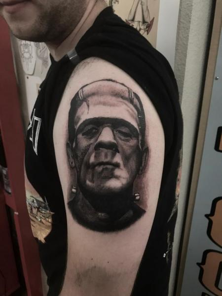 Arm Frankenstein Tattoo by Invisible Nyc