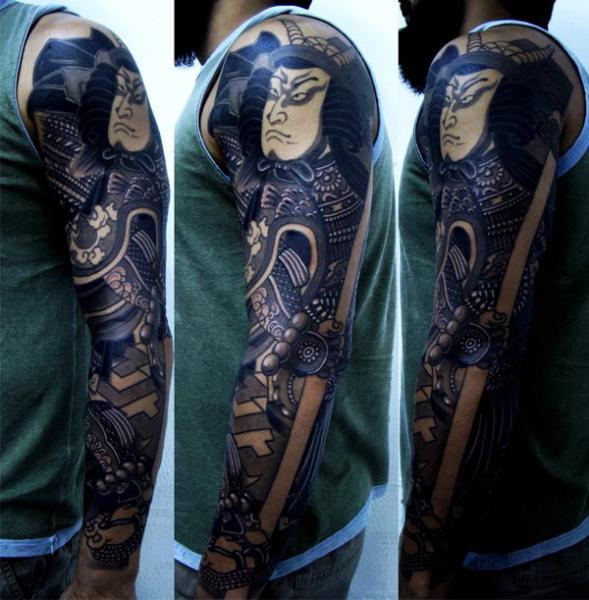 Arm Japanische Samurai Tattoo von Invisible Nyc