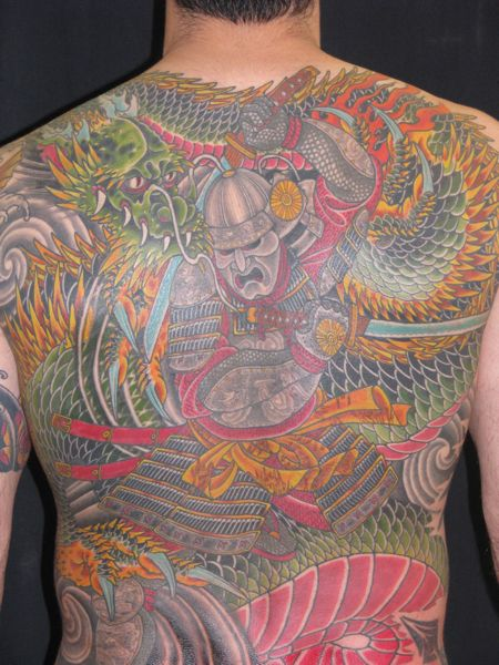 Japanese Back Tattoo by Invisible Nyc