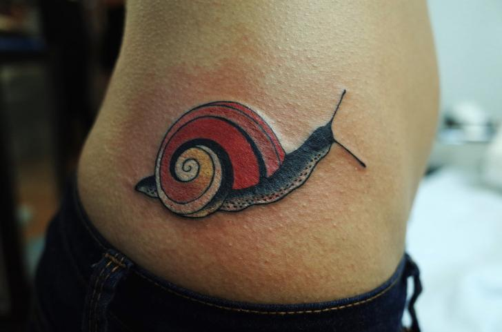 Side Snail Tattoo by Invisible Nyc