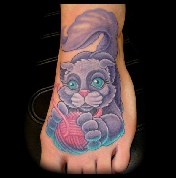 Fantasy Foot Cat Tattoo by Jon Dredd