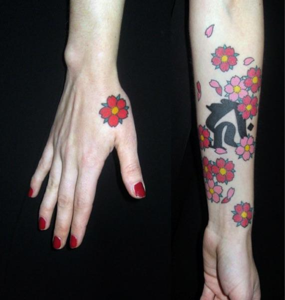 Arm Flower Hand Tattoo by JP Rodrigues