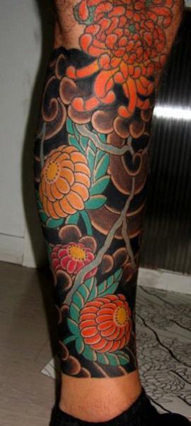 Tatuaje Pierna Japoneses por JP Rodrigues
