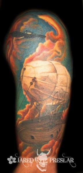Arm Realistic Balloon Tattoo by Lucky Bamboo Tattoo