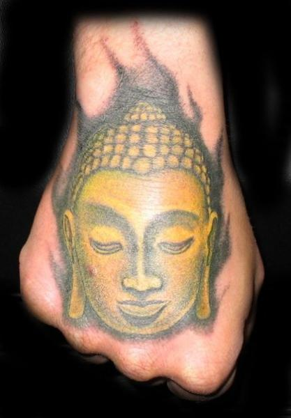 Buddha Hand Religious Tattoo by Lucky Bamboo Tattoo