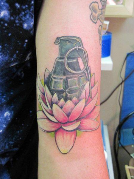 Arm Bomb Tattoo by Lucky Draw Tattoos