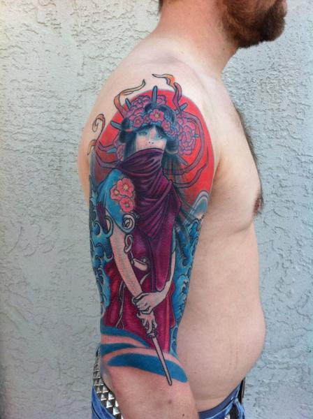 Arm Japanese Tattoo by Matthew Hamlet Tattoo