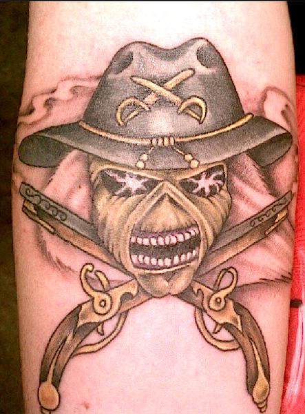 Fantasy Skull Tattoo by Memorial Tattoo