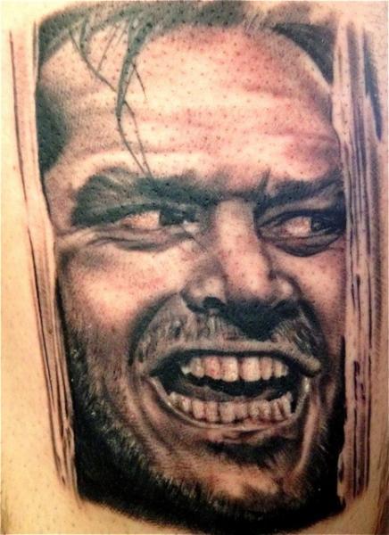 Realistic Jack Nicholson Tattoo by Memorial Tattoo