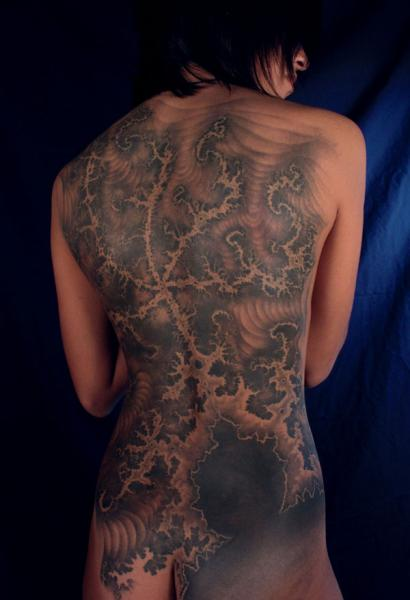 Fantasy Back Butt Tattoo by Monte Tattoo