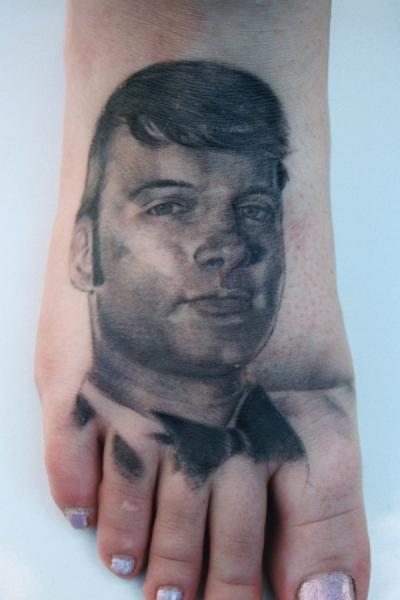 Realistic Foot Tattoo by Monte Tattoo