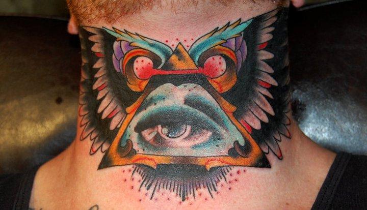 Old School Neck God Tattoo by Nightmare Studio