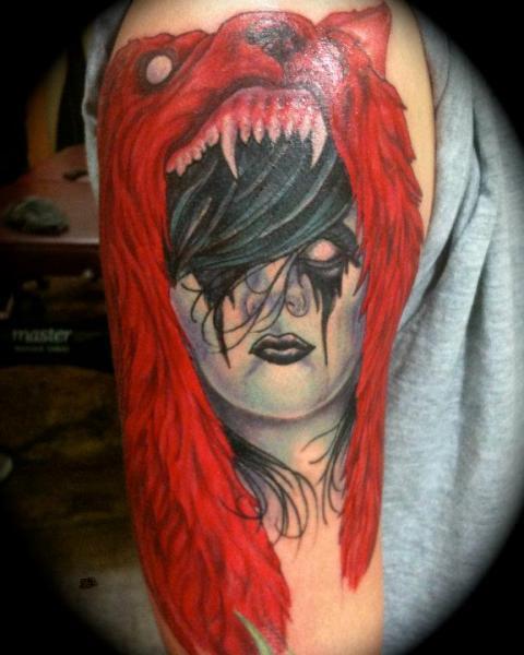 Tatuaggio Spalla Fantasy Lupo di Nightmare Studio