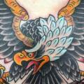 Brust Old School Adler tattoo von NY Adorned