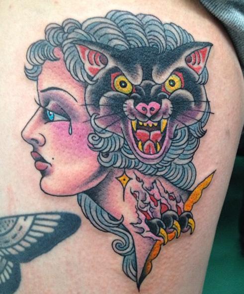 Tatuaggio Old School Gypsy di NY Adorned